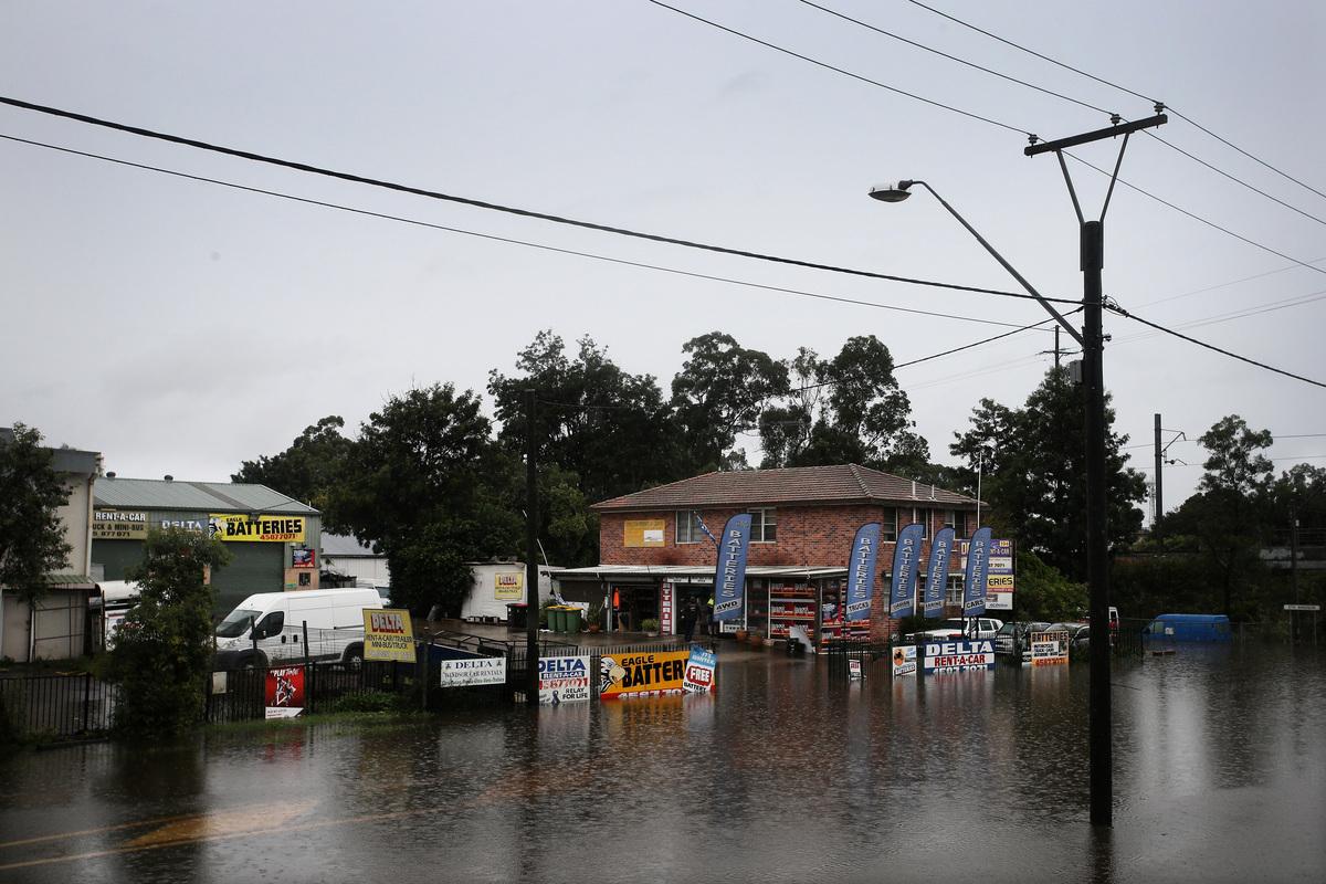 造成新洲數十年來的最嚴重洪水仍在繼續擴大。(Lisa Maree Williams/Getty Images)