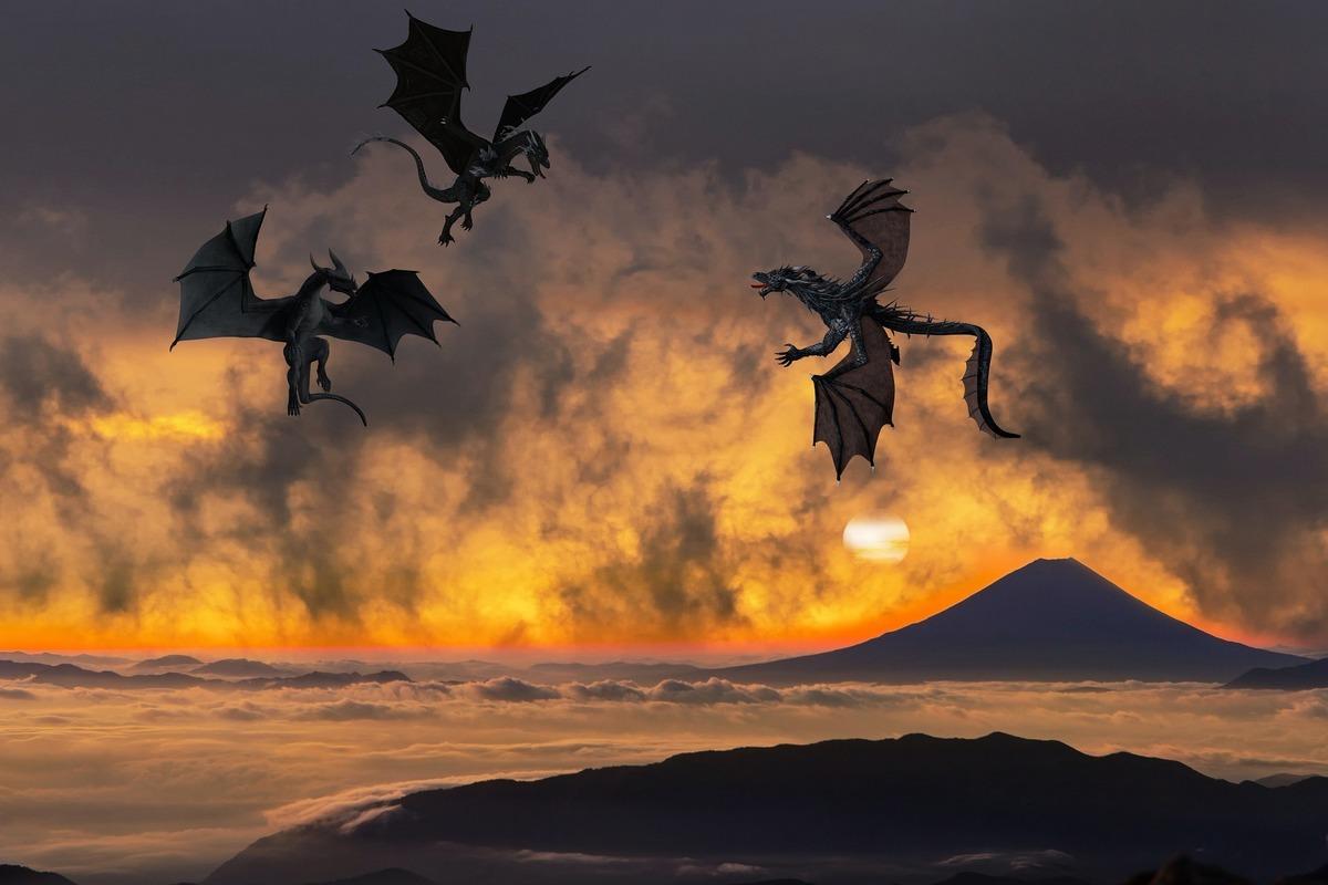 美國《聖經》專家邁爾(Tom Meyer)指出,龍不只是傳說,牠們是曾與人類同時存在的真實生物。圖為西方的龍。(Pixabay)