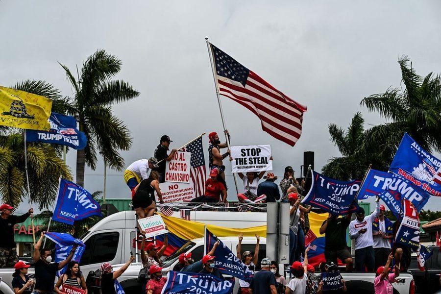 要求公平選舉 特朗普拉美裔支持者走上佛州街頭