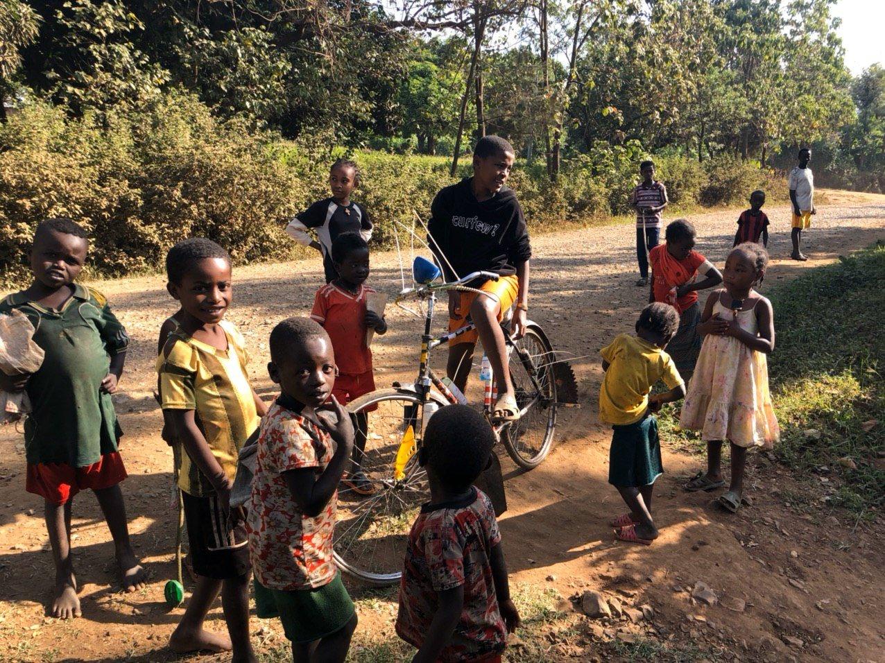 非洲的小孩。(受訪者者提供)