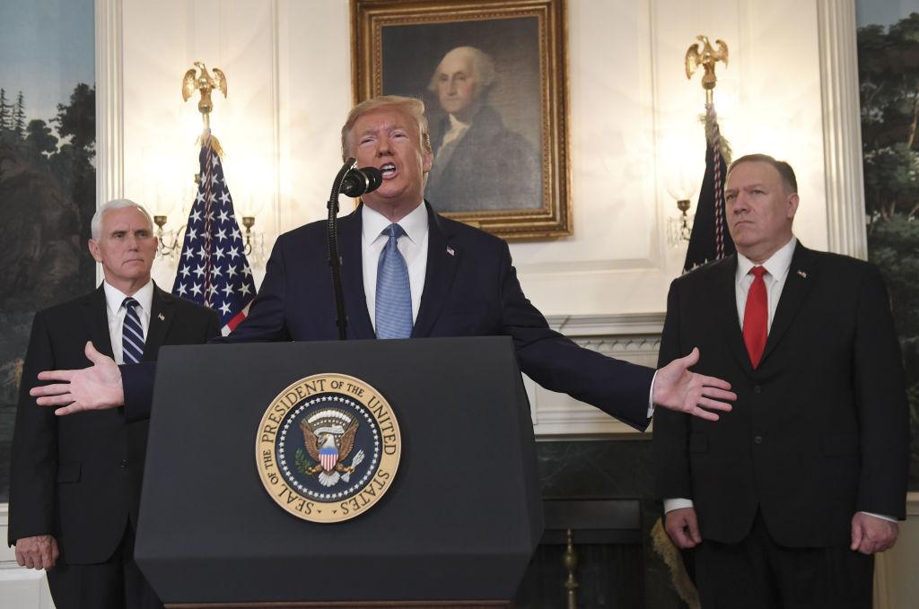 美國總統特朗普10月23日宣佈解除對土耳其的制裁,並談到美軍永久駐守敘利亞未必正確,他對撤軍決定充滿信心。(SAUL LOEB/AFP/Getty Images)