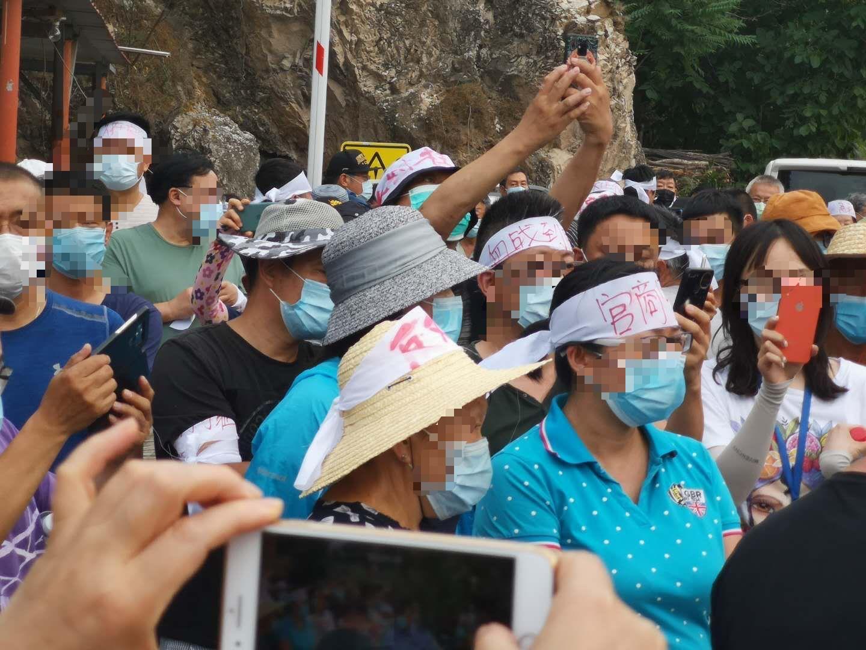 2020年6月,北京昌平區強拆現場,村民自發組織敢死隊,保衛自己的家園。(受訪者提供)