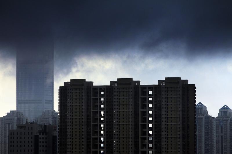 中共土地增值稅法徵求意見稿公開後,引起輿論關注。圖為深圳的一處高樓建築群。(Getty Images)