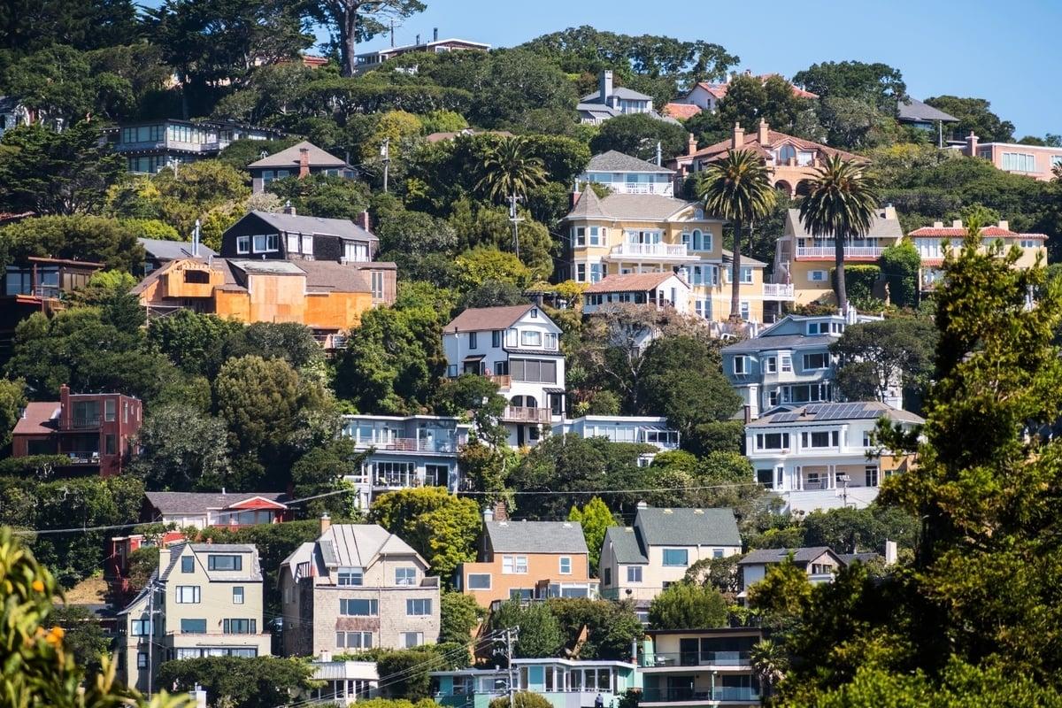 三藩市灣區一處住宅區。(Shutterstock)