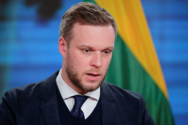 立陶宛外交部長藍斯柏吉斯(Gabrielius Landsbergis)。(HANNIBAL HANSCHKE/POOL/AFP via Getty Images)