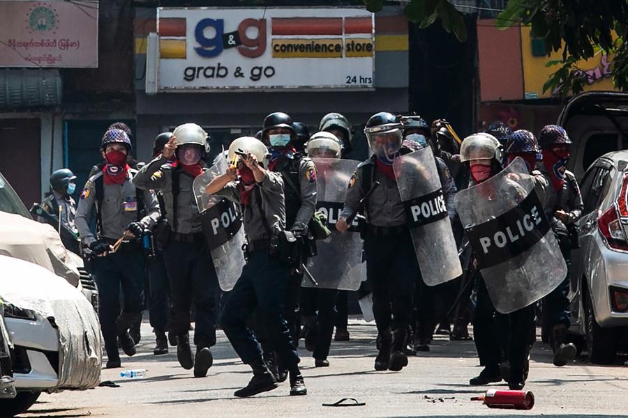 台外交部:譴責緬甸軍政府武力鎮壓示威民眾