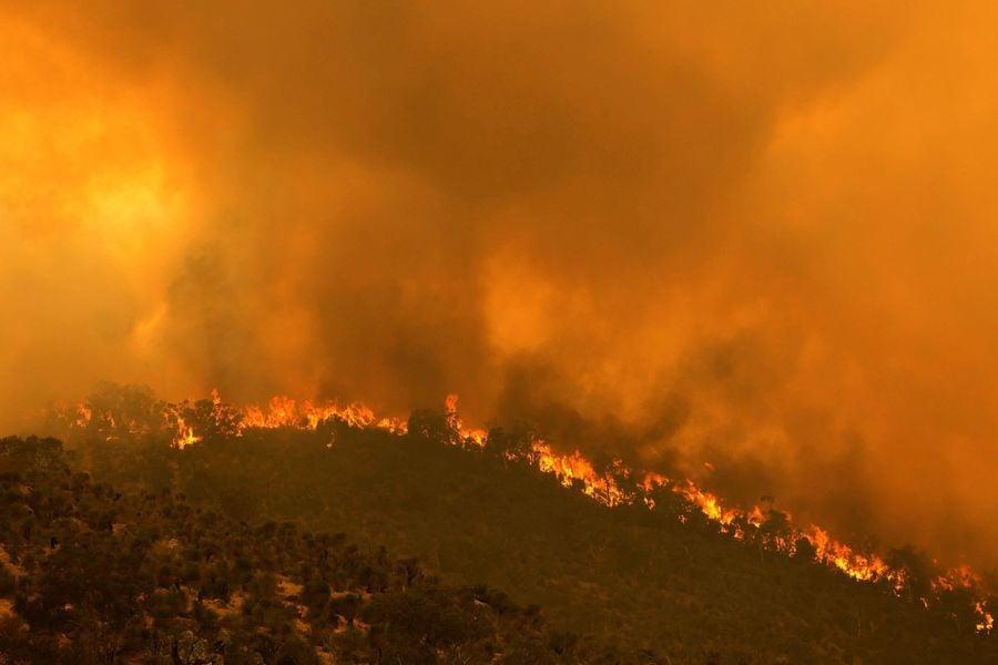 組圖:澳洲珀斯山火延燒 面積高達七千公頃