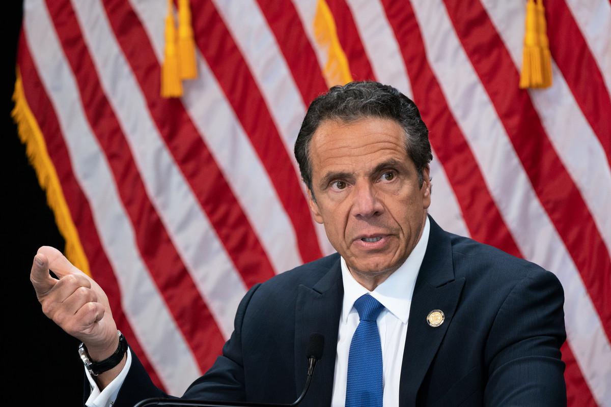 紐約州長科莫(Andrew Cuomo)宣佈,紐約市6月1日晚11點到第二天(6月2日)清晨五點實施全城宵禁,同時紐約州國民警衛隊待命,以戒備暴力抗議升級。圖為庫默。(州長辦公室)