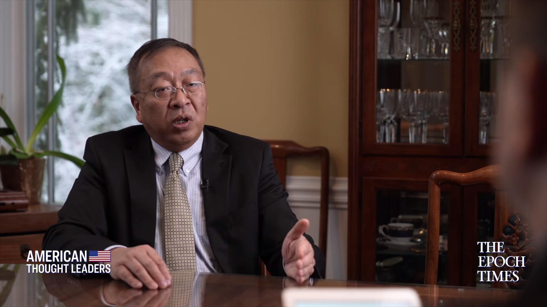 前美國國務卿蓬佩奧的中國顧問余茂春。(大紀元視頻截圖)