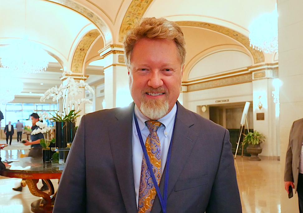 國際宗教自由圓桌會議共同主席米切爾(Greg Mitchell)(李辰/大紀元)