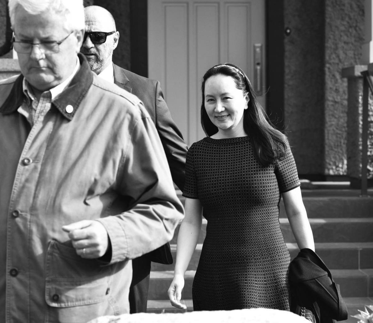 華為首席財務官孟晚舟周三(5月8日)在加拿大溫哥華最高法院出庭,以確定引渡聽證日期。(Don MacKinnon/AFP)