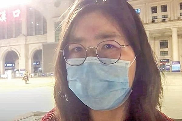 公民記者張展3月在武漢觀察。(影片截圖)