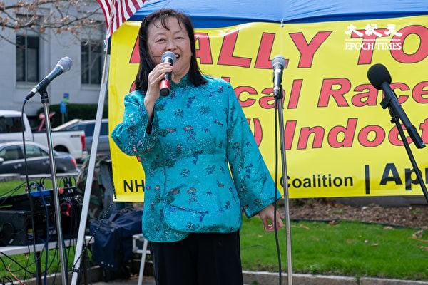 新罕州亞裔聯盟共同主席唐百合(Lily Tang Williams)說,批判種族理論與「文化大革命」如出一轍。(劉景燁/大紀元)