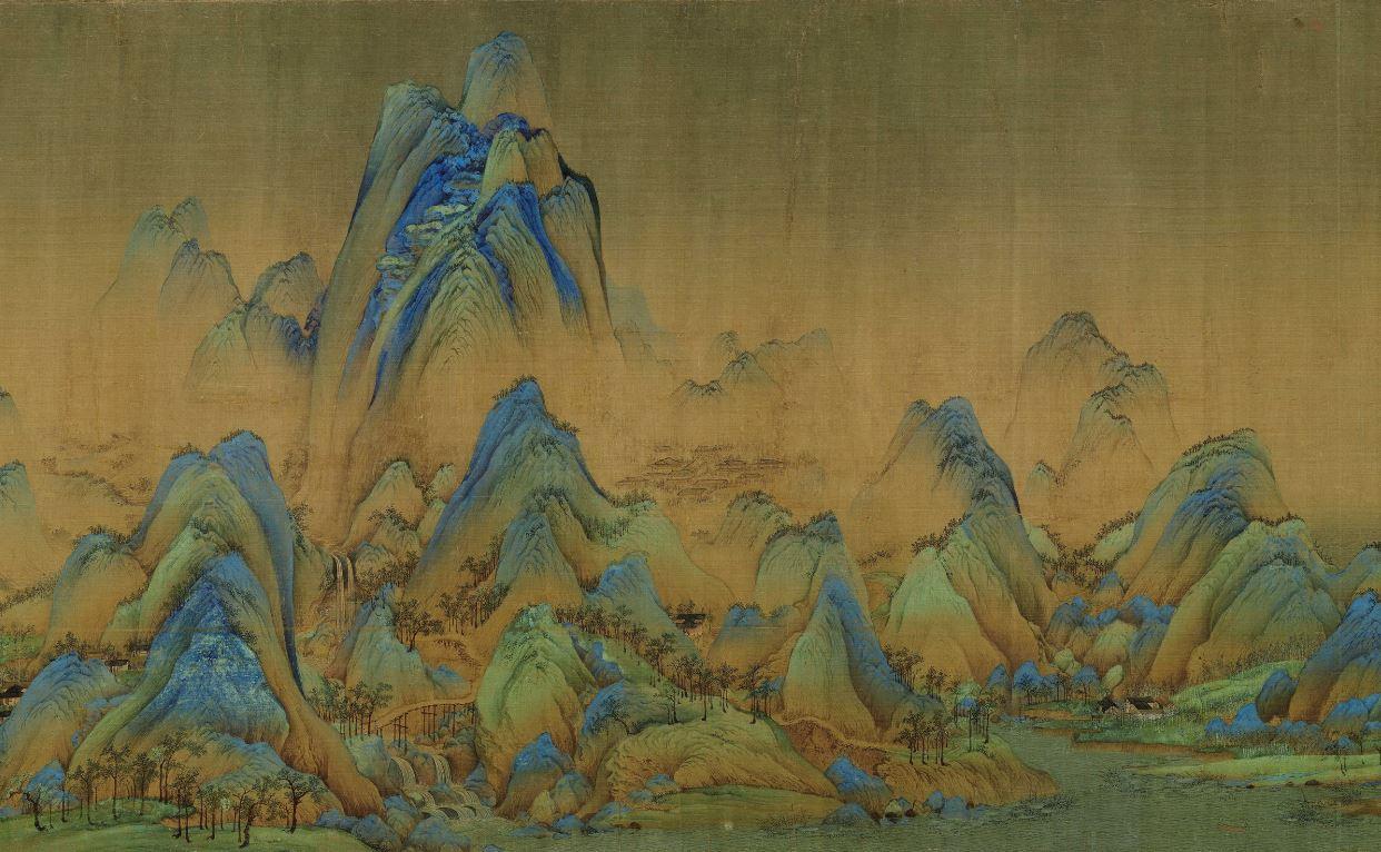 圖為宋 王希孟繪《千里江山圖》局部。(公有領域)