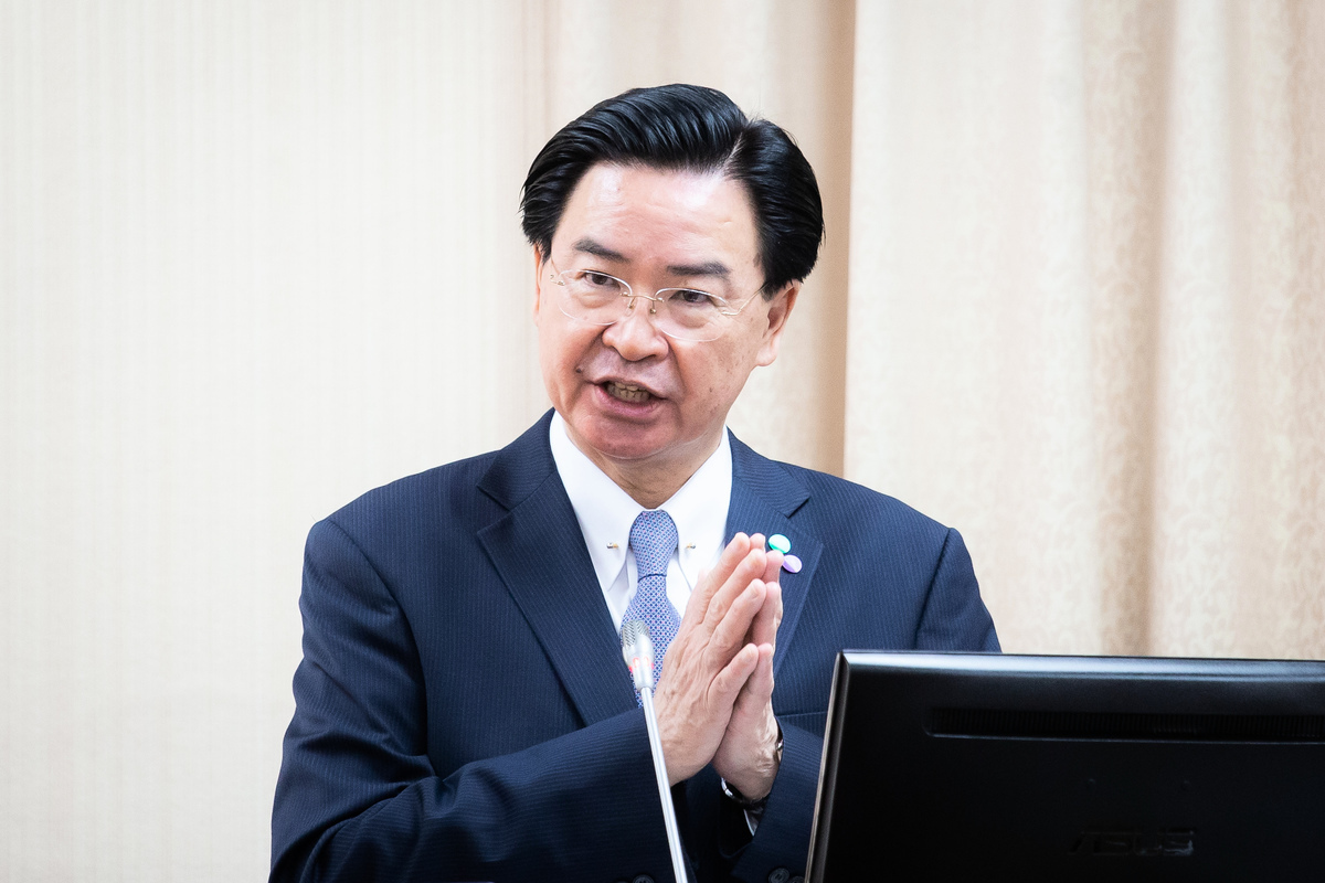 圖為外交部長吳釗燮。(陳柏州/大紀元)