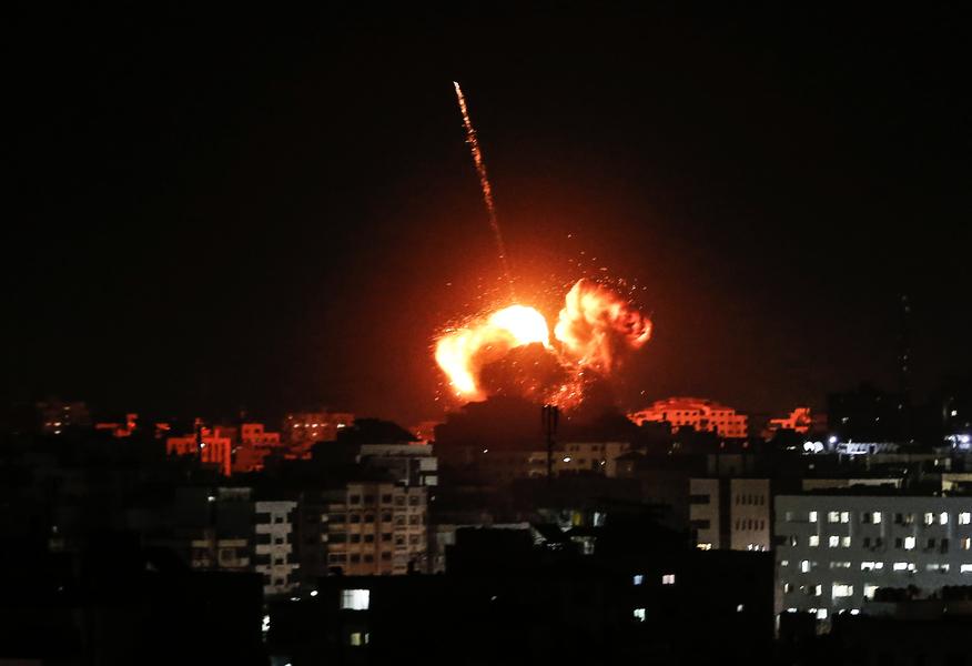 遭火箭彈襲擊後 以色列對加沙空襲