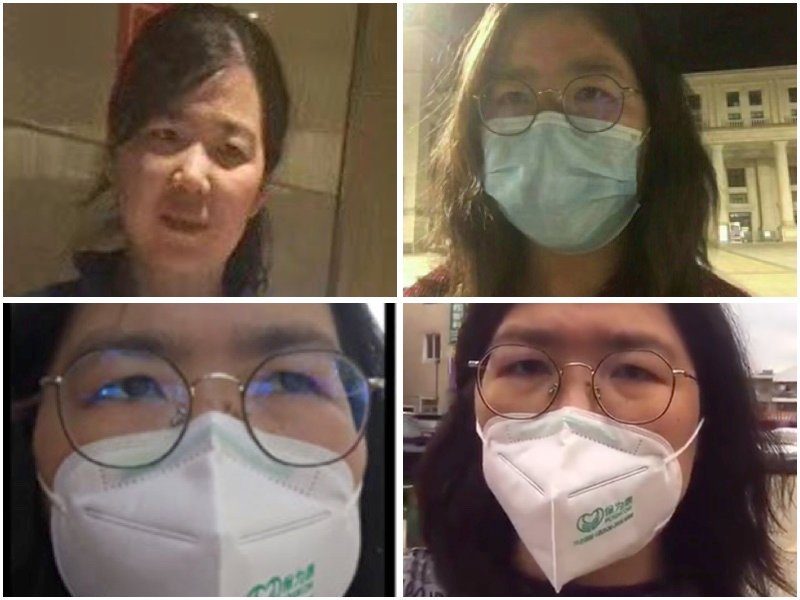 公民記者張展因報道疫情真相遭上海當局抓捕。(大紀元合成圖)