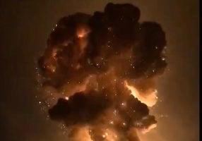 四川廣漢鞭炮廠爆炸 上空騰出蘑菇雲