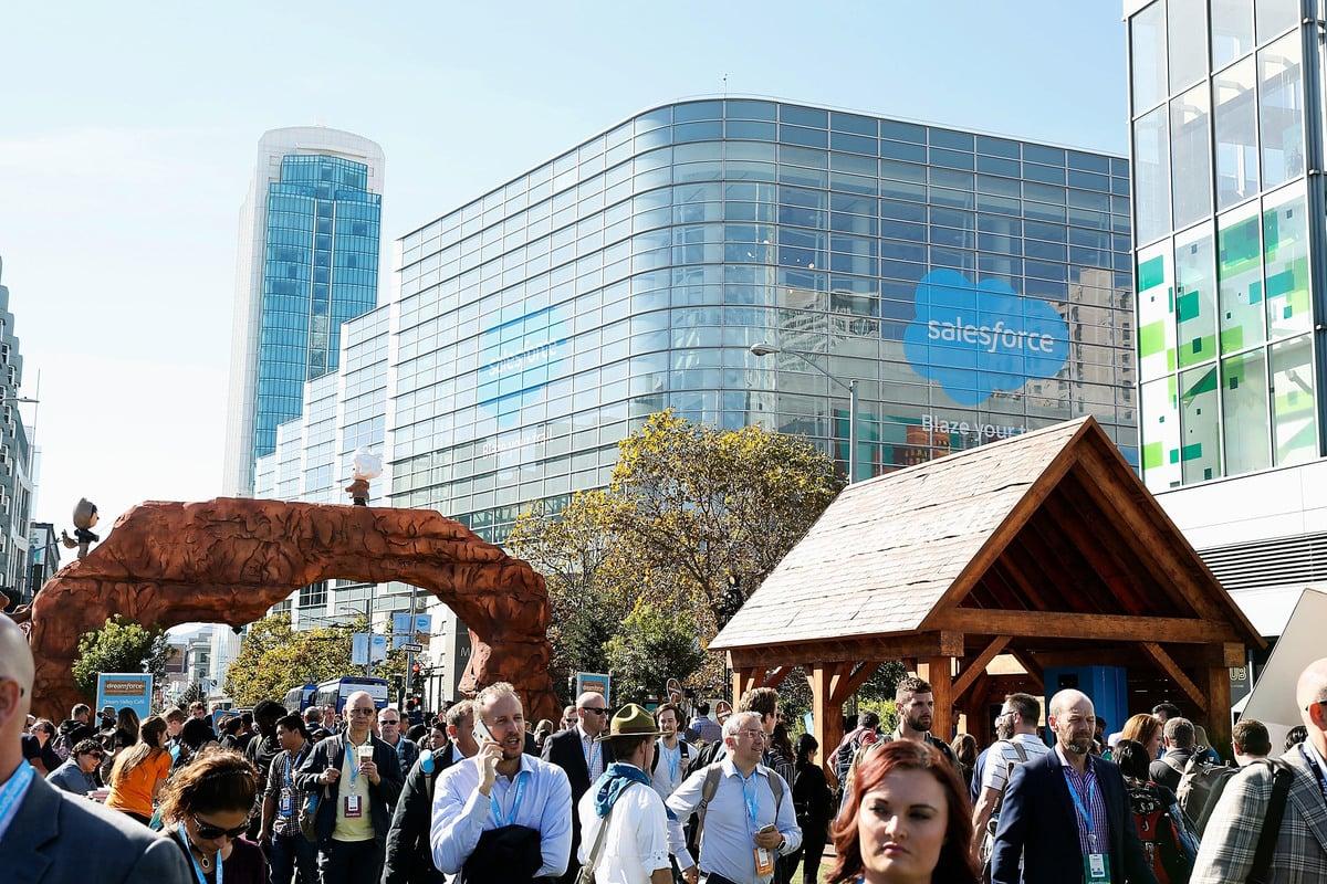 賽福時(Salesforce)是最受員工青睞的大型科技公司之一。(Lachlan Cunningham/Getty Images for Cool Effect)