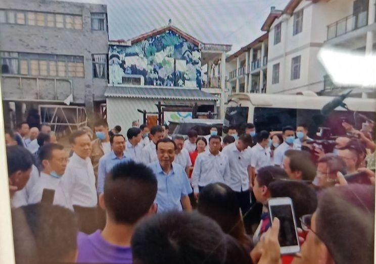 2020年8月20日上午,中共國務院總理李克強到遭遇洪災的重慶視察。(受訪人提供)