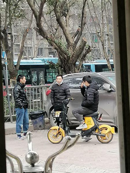 監控肖成林的黑保安(受訪者提供)