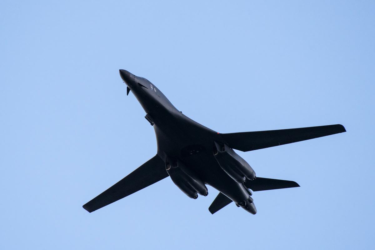 美國B-1B「槍騎兵」超音速戰略轟炸機。(JONATHAN NACKSTRAND/AFP via Getty Images)