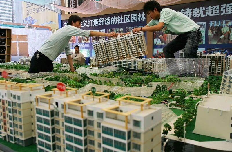 北京一處樓市展示場。(China Photos/Getty Images)