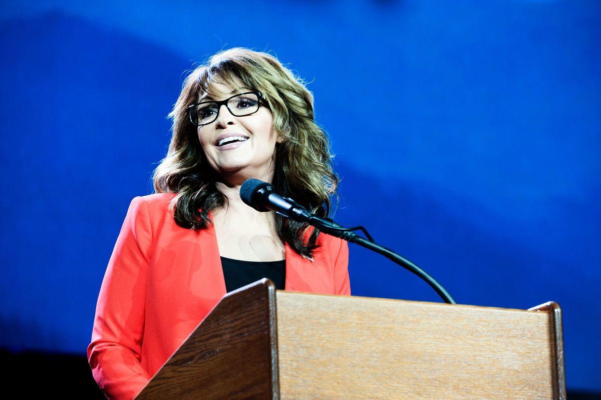 前阿拉斯加州長、2008年共和黨副總統候選人佩林(Sarah Palin)。(JASON CONNOLLY/AFP via Getty Images)
