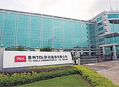 圖為TCL移動通訊位於惠州的大樓入口。(LAURENT FIEVET/AFP/Getty Images)
