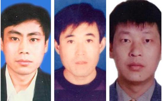 (從左至右)科技人才時紹平陷冤獄10年,現下落不明;青島市即墨區 何立芳被虐殺,疑活摘器官;為家鄉修路出資28萬元的鄧成聯被枉判4年。(大紀元合成圖)