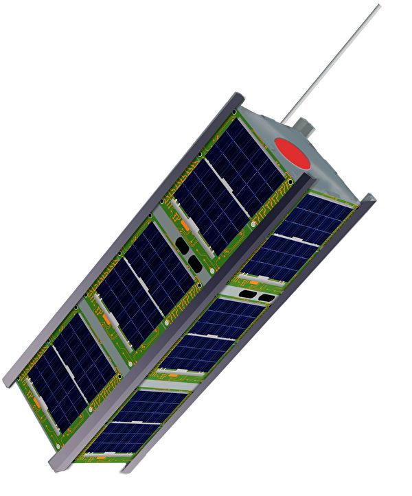 大小10 x 10 x 30厘米的方形衛星。(NASA)