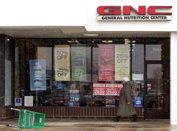 圖為美國伊利諾州一家健安喜(GNC)分店。(Tim Boyle/Getty Images)