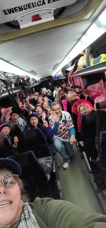 佛州的特朗普總統支持者坐巴士去華盛頓DC。(受訪者提供)