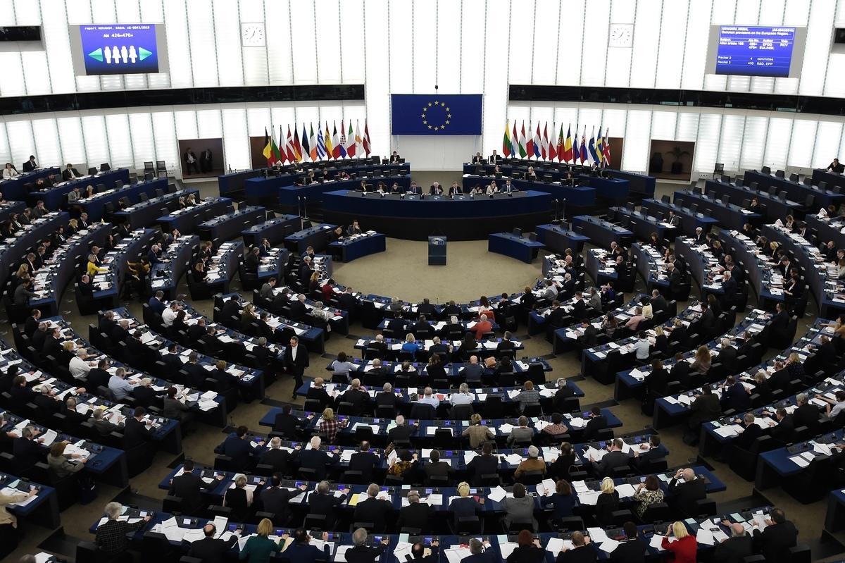 歐洲議會2020年10月7日通過「共同商業政策年度執行報告」決議案,呼籲歐盟執委會與台灣迅速展開投資談判。圖為示意圖。(FREDERICK FLORIN/AFP)