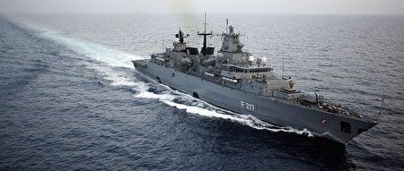 德國將於8月派遣巡防艦「巴伐利亞」(Bayern)號前往亞洲。(MICHAEL KAPPELER/AFP via Getty Images)