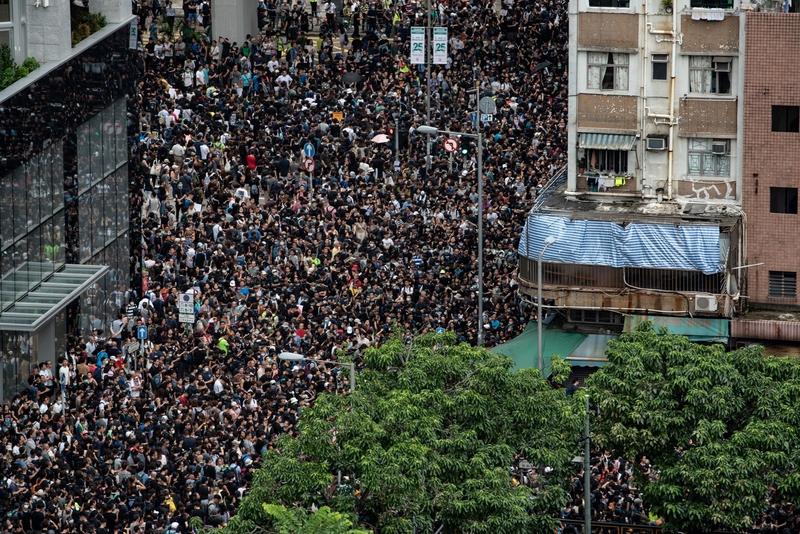 【8.3反送中組圖2】港人「旺角再遊行」擠爆街道