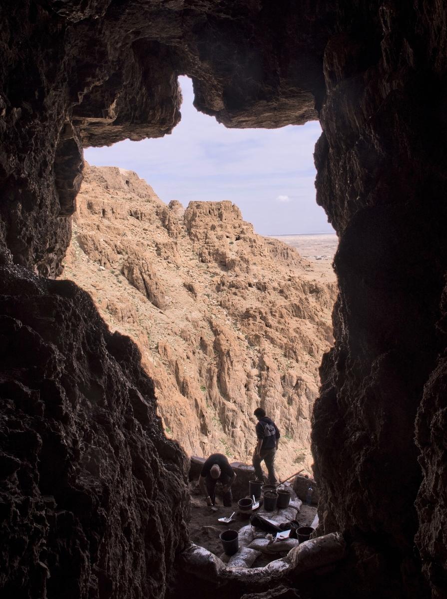 自2017年起,以色列文物局在猶大曠野地區展開了一系列搶救性發掘工作。(SHAI HALEVI/Israeli Antiquities Authority/AFP)