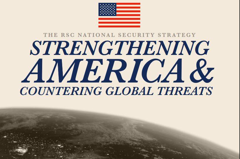 2020年6月10日,美國國會眾議院約150名議員組成的「共和黨研究委員會」(the Republican Study Committee)發佈一份國家安全戰略報告,名為「強化美國以及應對全球威脅」(Strengthening America&Countering Global Threats),報告對中共全方位的種種技術盜竊手段,逐一祭出重拳,列舉六大反制措施。(報告封面截圖)
