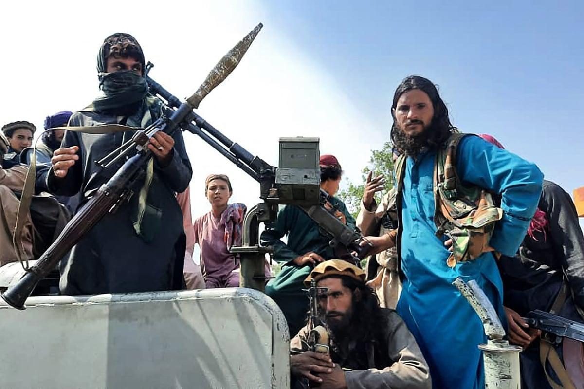 8月15日,塔利班武裝分子佔領了阿富汗東部省份拉格曼。(AFP via Getty Images)