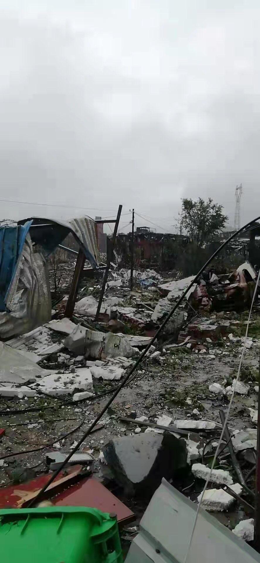 河南鄭州登封市登電集團鋁合金有限公司7月20日發生重大爆炸事故。圖為損毀的民房。(民眾提供)