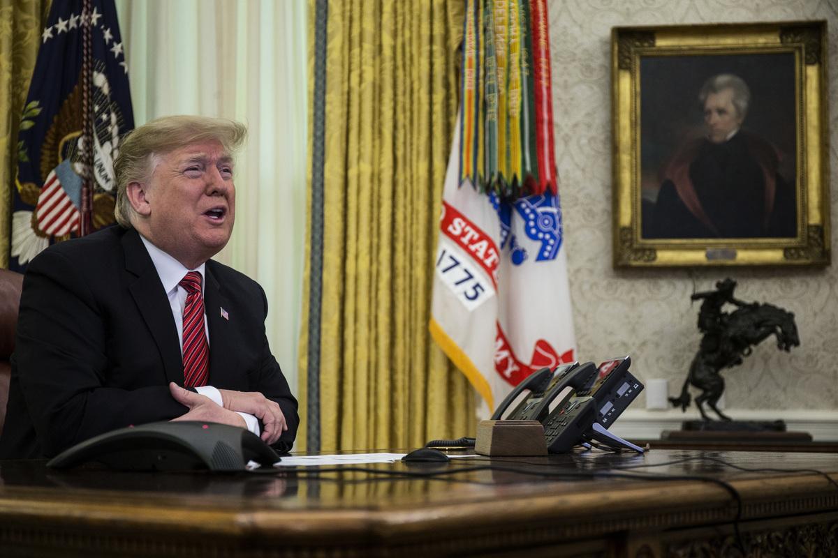 特朗普總統12月29日在推特上說,「剛才與習近平主席通電話,進行了很長時間且非常好的對話。」(Zach Gibson-Pool/Getty Images)