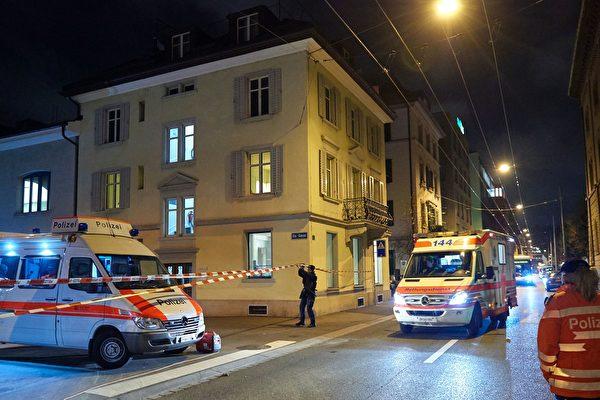 瑞士蘇黎世警方周二(20日)證實19日蘇黎世槍擊案的槍手已自殺身亡。(MICHAEL BUHOLZER/AFP/Getty Images)