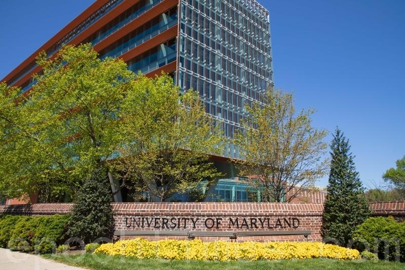馬利蘭大學是美國首都圈唯一的綜合性公立大學,拍攝於2020年4月22日。(林樂予/大紀元)