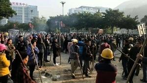 強徵土地爆衝突 廣西百餘村民對抗千警
