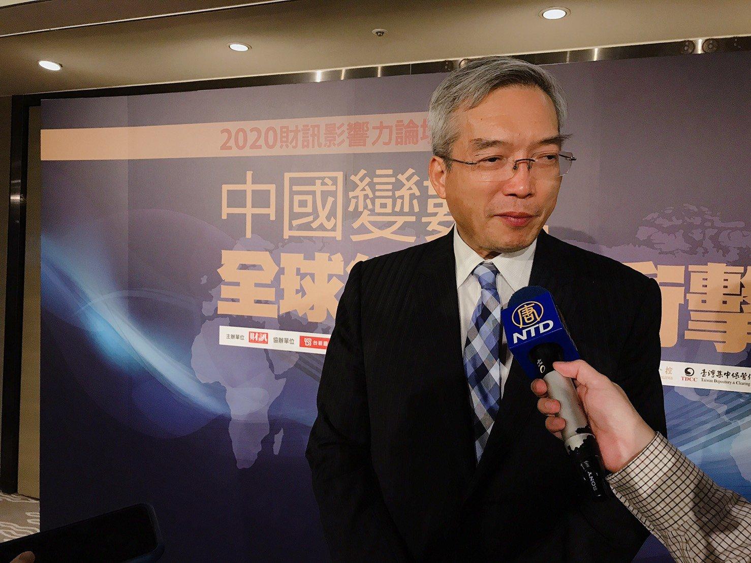 財信集團董事長謝金河2020年7月23日說,台股已非30年前的情況,台灣產業外流的狀況正在翻轉。(賴意晴/大紀元)