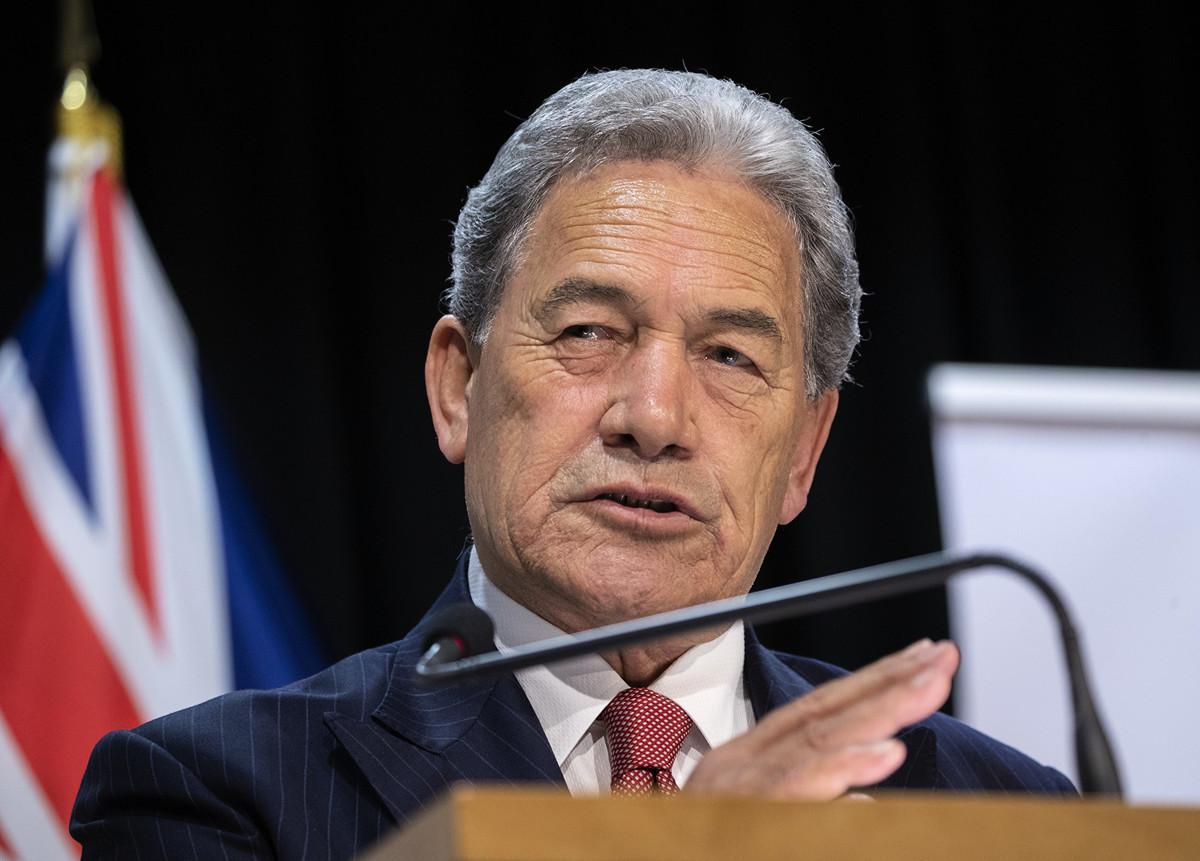 2020年4月29日,紐西蘭外交部長溫斯頓·彼得斯(Winston Peters)(如圖)堅決支持台灣加入世界衛生組織(WHO)。(Mark Mitchell-Pool/Getty Images)