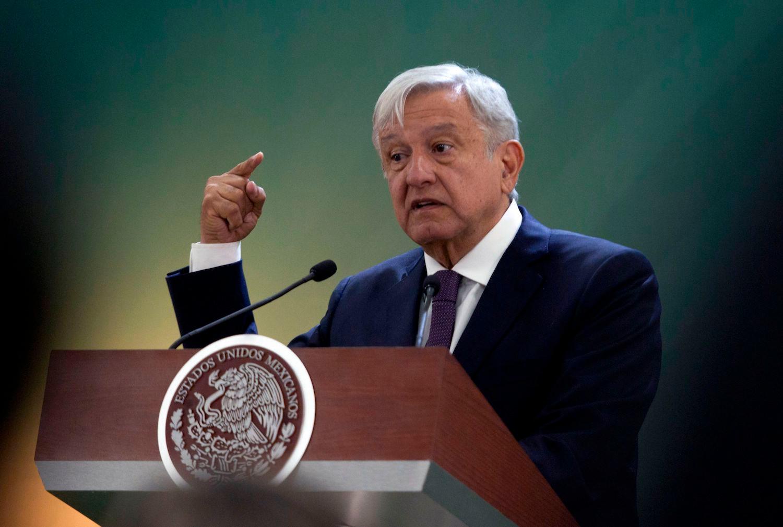 圖為墨西哥總統奧夫拉多爾(Andres Manuel Lopez Obrador)。(Julio Cesar Aguilar/AFP)
