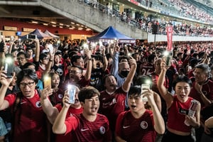 釜山東亞盃 港球迷將「光復香港」帶入球場