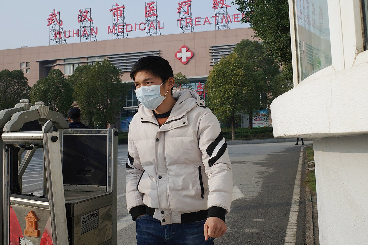 湖北武漢市爆發中共病毒肺炎疫情,導致中國大陸及周邊國家人心惶惶。(Noel Celis/AFP/Getty Images)