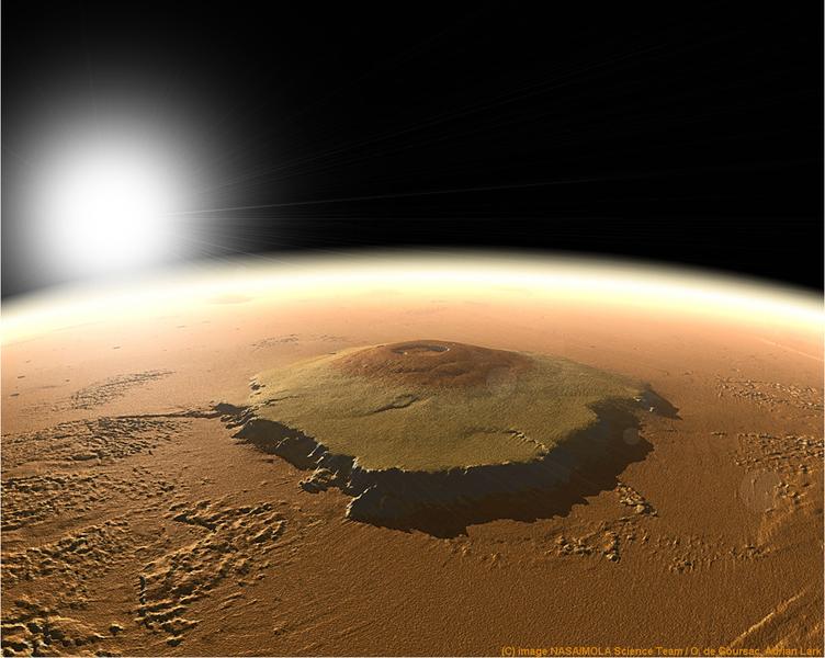 探秘:太陽系最大火山為甚麼高達25,000米?